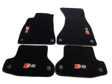Velor floor mats for Audi A5 / S5 / RS5 (B9) Coupe