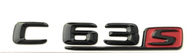 Mercedes C63_S emblem black high-gloss / red