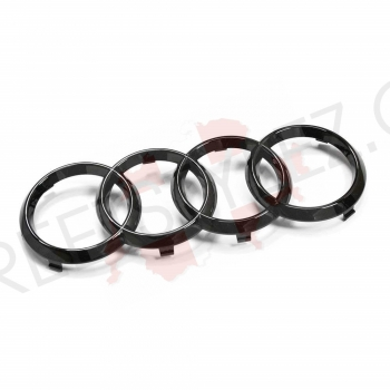 Audi grill rings Black Edition black matt 283mm x 99mm - A6 / RS6 / A7 / RS7 / A8 / Q2 / Q8