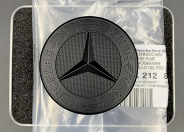 Mercedes-Benz bonnet star 57mm Black Matt