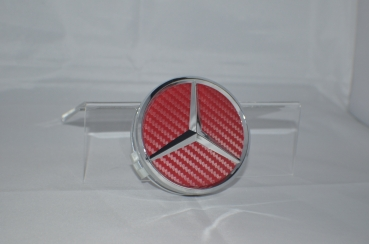 Mercedes Benz center cap red-carbon 75mm