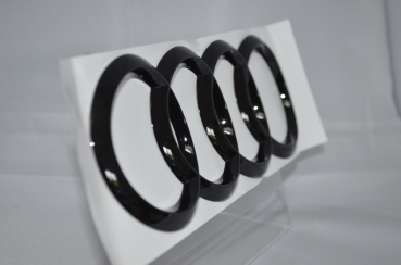 Audi Back Emblem Black Edition 192x67 A3,S3,RS3,Q2,TT,R8