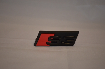 Audi S3 EMBLEM RADIATOR GRILL, GLOSS BLACK + RED