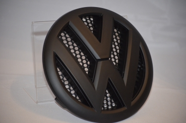VW T5 Emblem Front in black matt