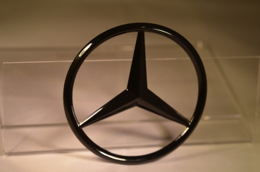 Mercedes Star W204 rear black glossy