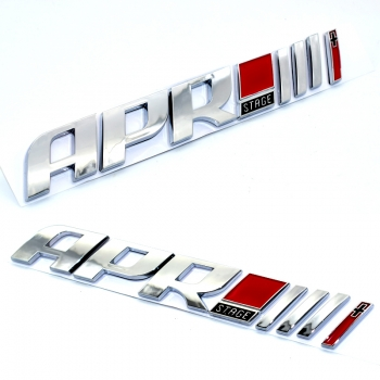 Tuning Emblem APR Stage 3 chrome
