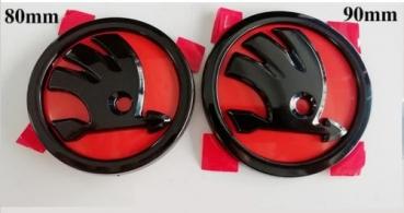 skoda emblem schwarz rot exclusiv veredelte embleme aus der schweiz. Black Bedroom Furniture Sets. Home Design Ideas