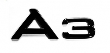 AUDI A3 Back Emblem Black Edition