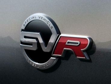 Range Rover SVR Emblem black / red