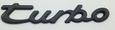 Porsche Turbo Emblem in Schwarz Glanz