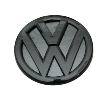 VW Golf 7 (5G) R GTI TCR Back Emblem Black Glossy LA9W Carbon Steel grey
