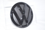 VW T5 / T6 / 6.1 / Caddy Emblem black in black glossy